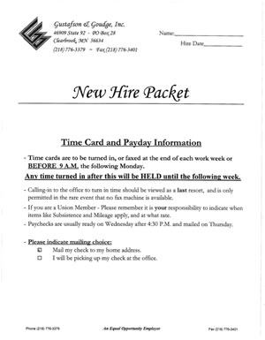 GG NEW HIRE PACKET